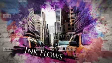Motionelements Watercolor Ink Parallax Slideshow After Effects