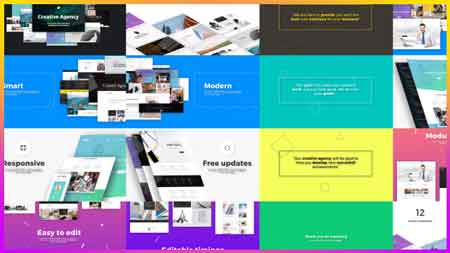 Creative Agency Website Presentation After Effects Template
