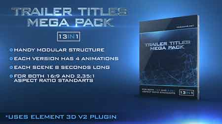 Trailer Titles Pack After Effects Template 15419714