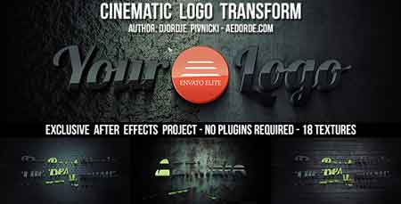 Cinematic Logo Transform 7633200 After Effect Template