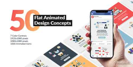 Flat Animated Design Concepts 21491354 After Effects Template