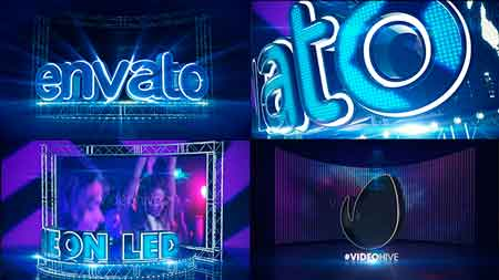 LED Neon Screen After Effect Template 21488559