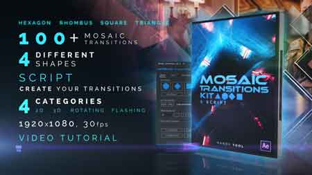 mosaic transitions kit after effect template 21987066