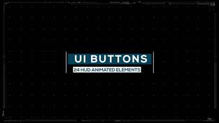 Pond5 - Ui Button Elements Pack Of 29 Sci Fi Hud Design 077559523
