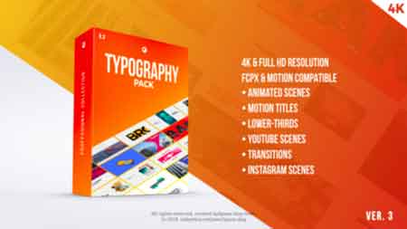 Typography Pack PRO FCPX and Apple Motion 21729093 Free Download