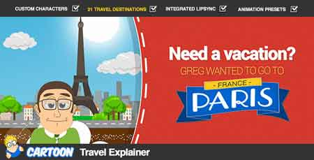 Cartoon Travel Explainer 8068670 After Effects Template