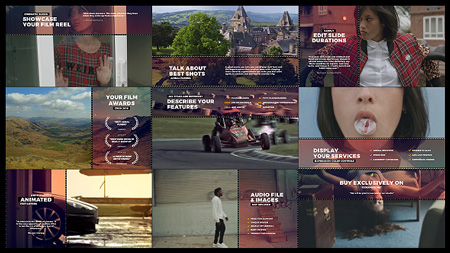 Cinematic Film Reel Slides 19241994 After Effects Template
