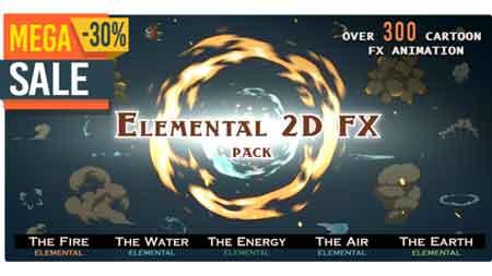 Elemental 2D FX pack [300 elements] V5 9673890