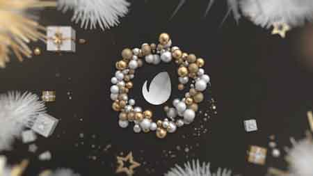 Gold Christmas Logo 21098299 After Effects Template
