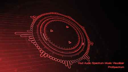 Hud Audio Spectrum Music Visualizer 21232494 After Effects Template