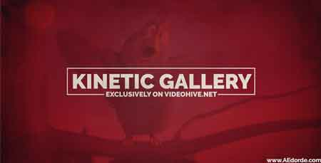 Kinetic Gallery 16692200 After Effects Template