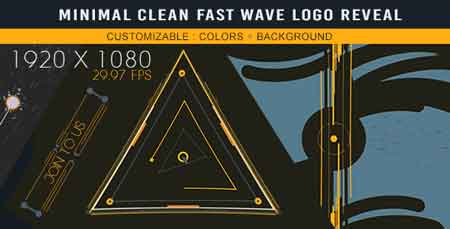 Minimal Clean Fast Wave Logo Reveal 17568824 After Effects Template