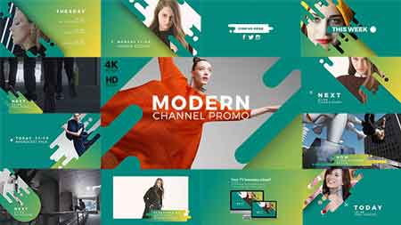 Modern Channel Promo v2 21413897 After Effects Template