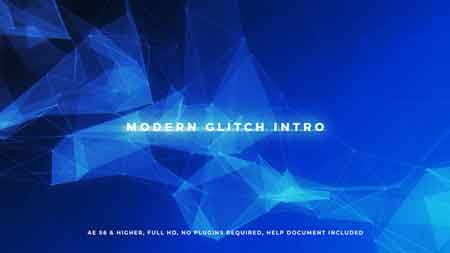Modern Glitch Intro 20614919 After Effects Template