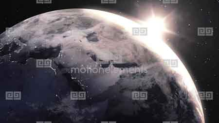 MotionElements - Outer Space Sunrise 10314206