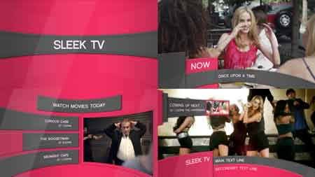Sleek TV - Broadcast Package 8898977 After Effects Template