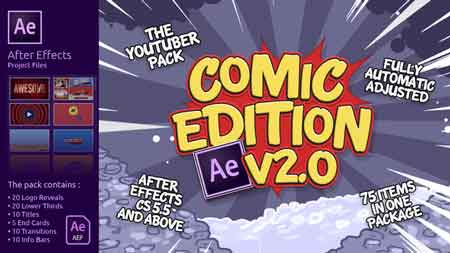 The YouTuber Pack - Comic Edition V2.0 16575265 After Effects Template