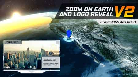 Zoom On Earth And Logo Reveal V2 22001651 After Effects Template
