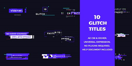 10 Glitch Titles 20200473 After Effects Template