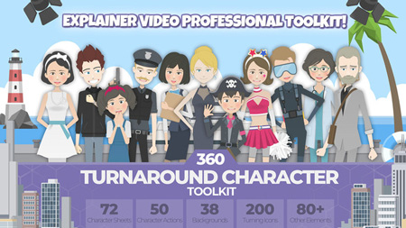 360 Turnaround Character Toolkit 22379360 After Effects
