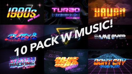 4K 1980s 10 Logo Text Intro Pack 22018702