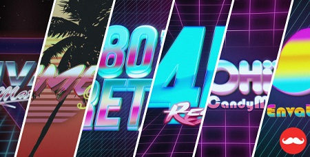 80's VHS Logo Title Intro Pack 13046799 After Effects Template