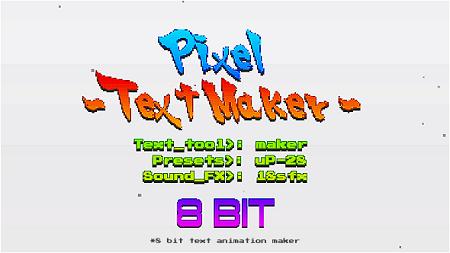 Arcade Text Maker 8bit Glitch Titles 20774500
