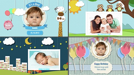 Baby Photo Album - Birthday 14648981 After Effects Template