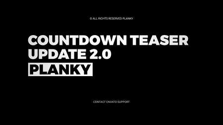 Countdown Teaser V2.0 21037722 After Effects Template