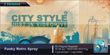 Funky Retro Spray 2167022 After Effects Template