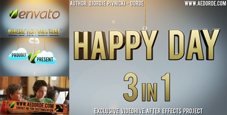 Happy Day - 3in1 669066 After Effects Template