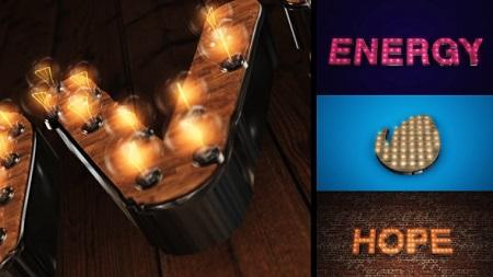 Light It Up - Light Bulb Text or Logo Reveal 6903686