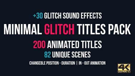 Minimal Glitch Titles Pack + 30 Glitch Sound Effects 16146631