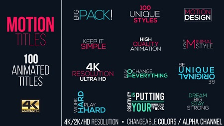 Motion Titles Pack 15383395 After Effects Template