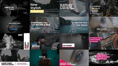 New Typography - Premiere Pro Templates 108701