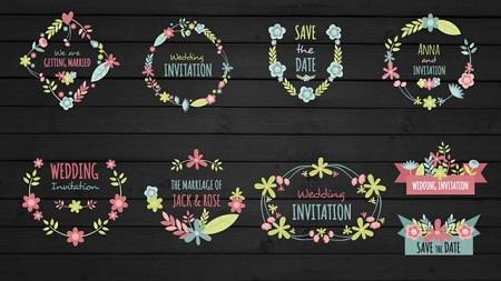 Pond5 - Floral Frame And Titles For Wedding 072492352