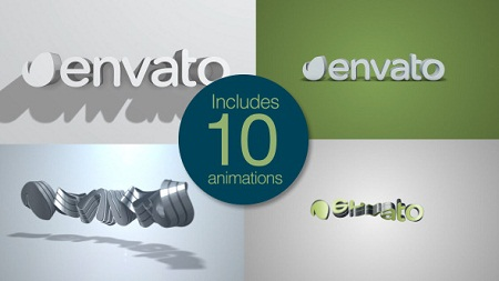 Quick Clean 3D Logo Pack 9847509 After Effects Template