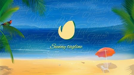 Sunny Beach Logo Opener 20762008 After Effects Template