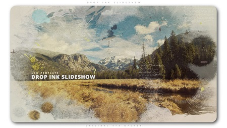 Videohive Drop Ink Slideshow 22192491