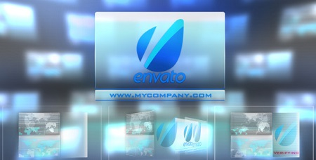 Videohive Hi tech Touch Interface-Futuristic Logo Sting 3044758