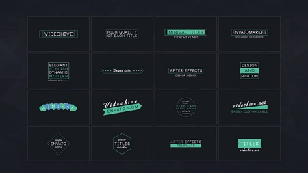 16 Minimal Titles 22270269 Premier Pro Template Download Videohive