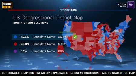 2018 Midterm Election Map State Congressional Districts 22714175