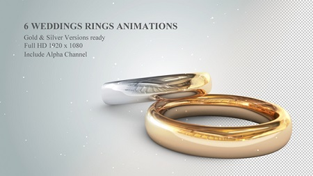 Videohive 6 3D Wedding Rings Animations 19774796 After Effects Template