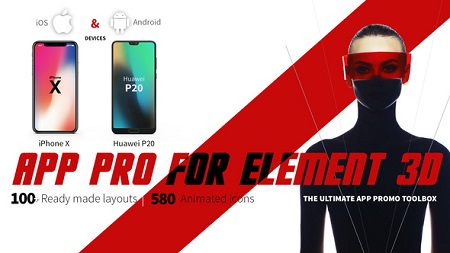 App Pro for Element 3D 22026827 After Effects Template Download