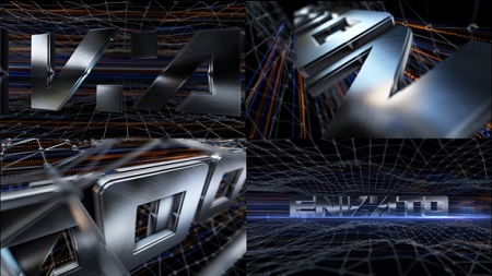 Brushed Metal Logo Text Reveal 7990938 After Effects Template