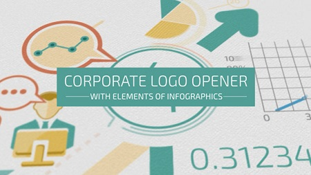 Corporate Logo Opener With Elements Of Infographics 17208550