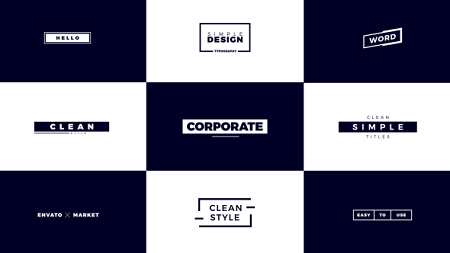 Corporate Titles 21458514 After Effects Template Download Videohive