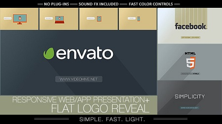 Videohive Flat Logo - Responsive Design Corporate App 7043820 After Effects Template