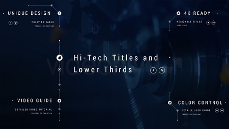 Hi-Tech Titles Lower Thirds 21972869 After Effects Template Download