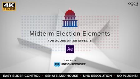 Midterm Election Elements Congress Senate 22771895 After Effects